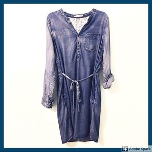 MAURICES Denim Dress Chambray Long Sleeves